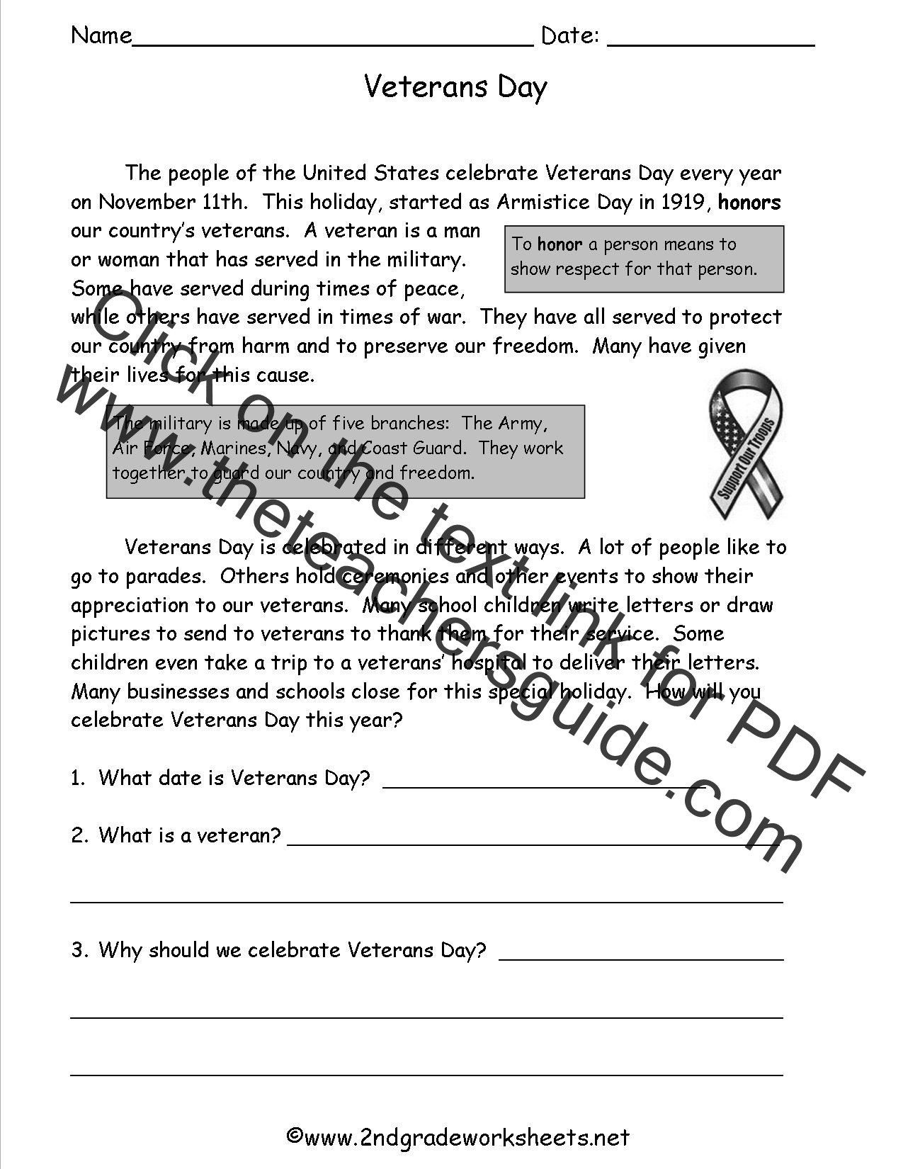 veterans day worksheets